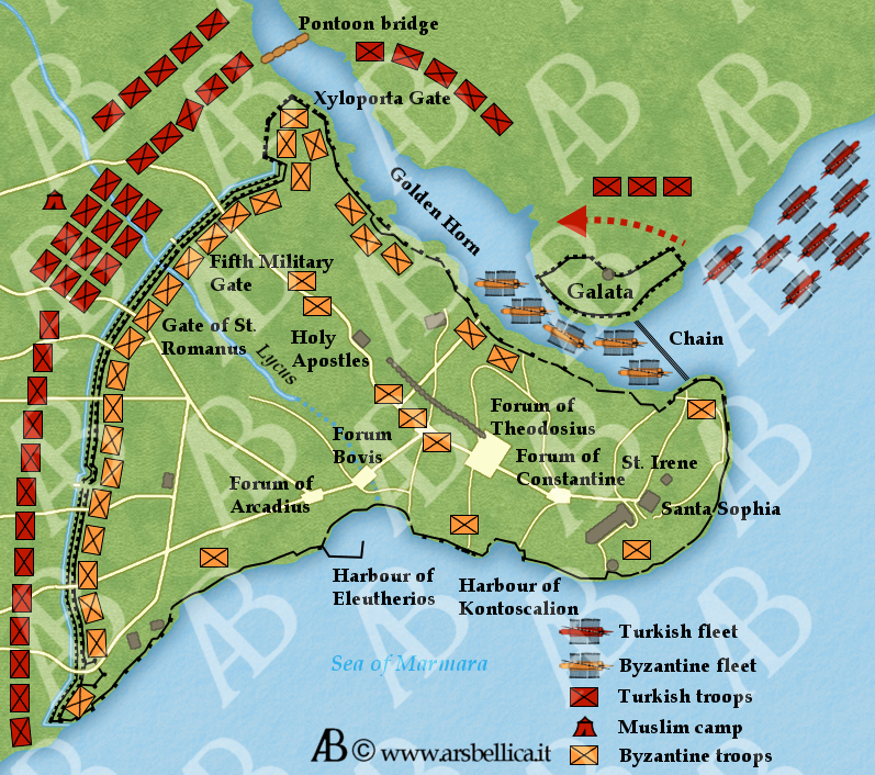 The siege of Constantinople - The Great Battles of History - Ars Bellica