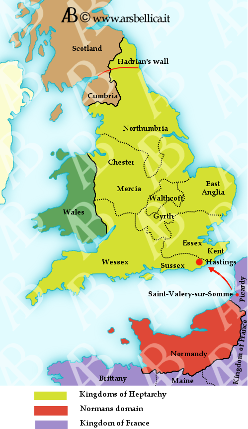 Map Of England Hastings.Battle Of Hastings The Great Battles Of History Ars Bellica